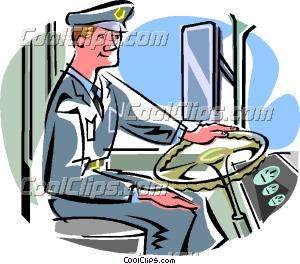 300x264 Bus Driver Clip Art