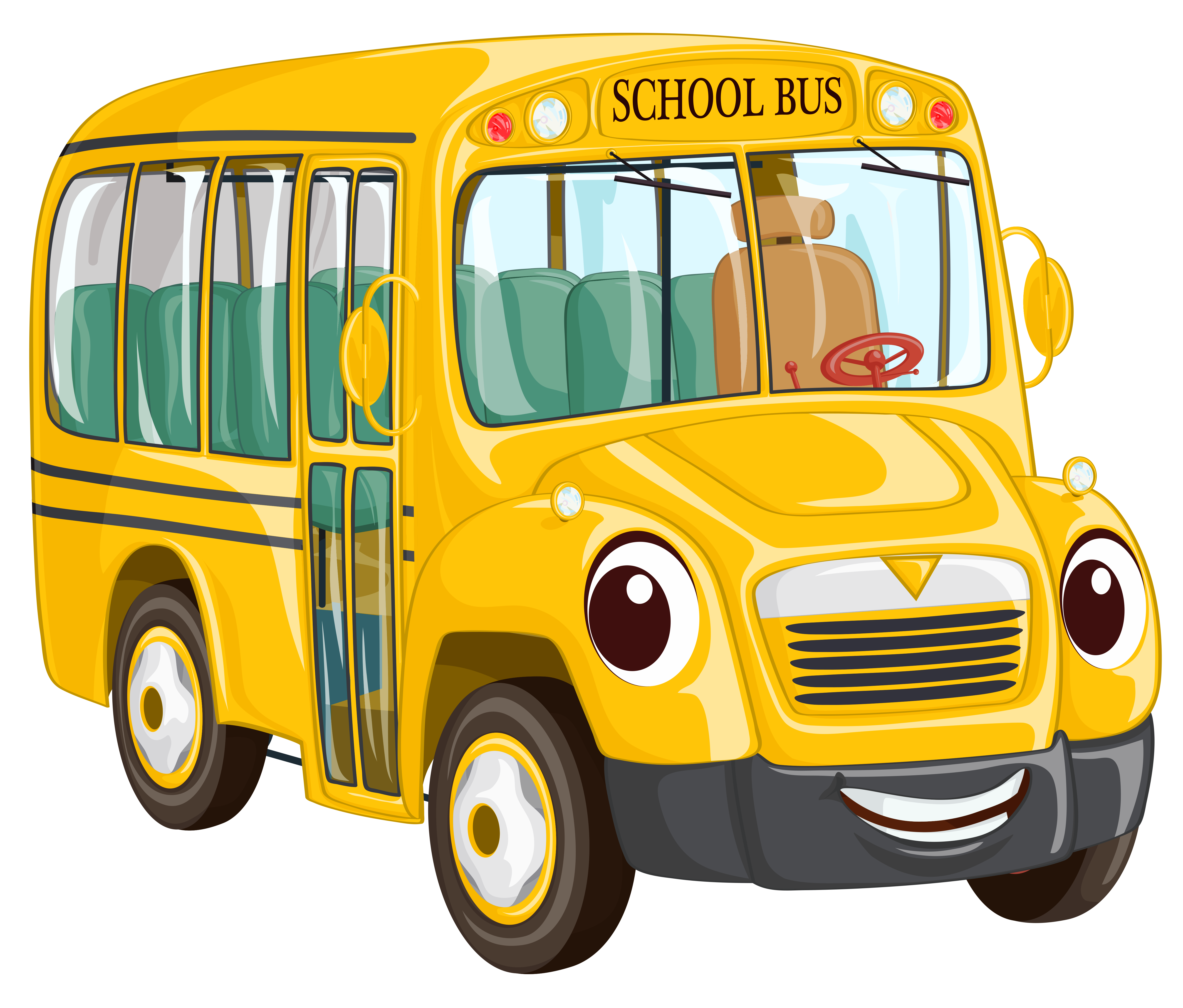5210x4440 Image Of School Bus Driver Clipart