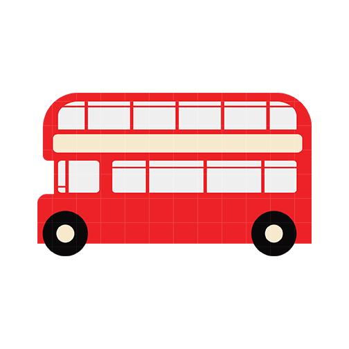 504x504 Double Decker Bus Clipart