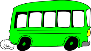 298x168 Green Bus Clip Art