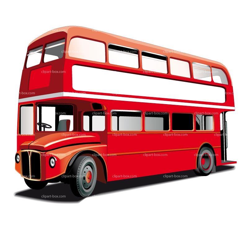 800x800 Bus Clipart Red Bus