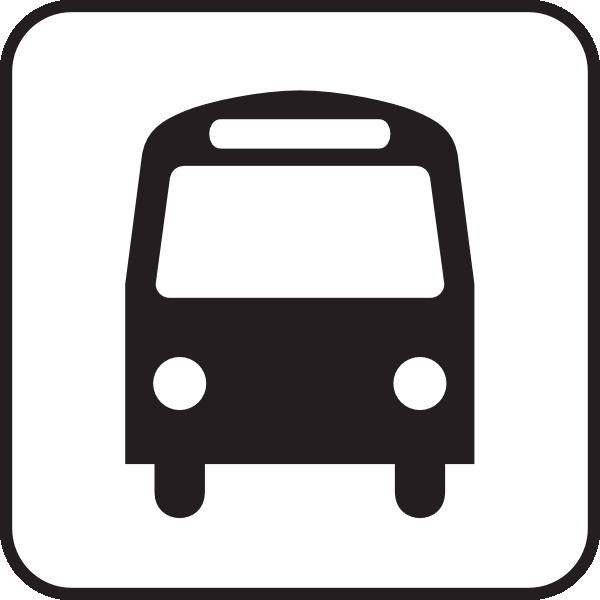 600x600 Map Symbols Bus Clip Art
