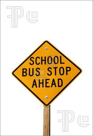 309x449 School Bus Stop Ahead Sign Clipart Panda