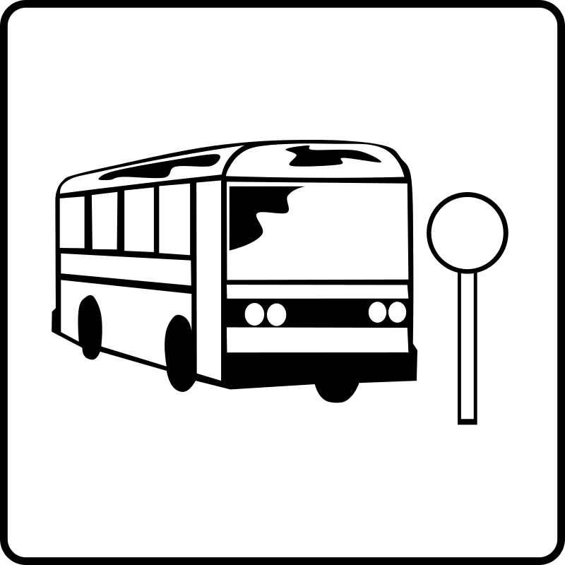 800x800 Bus Stop Clip Art Download