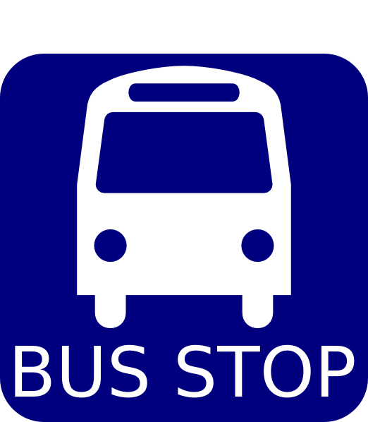 522x598 Bus Stop Sign Blue Clip Art