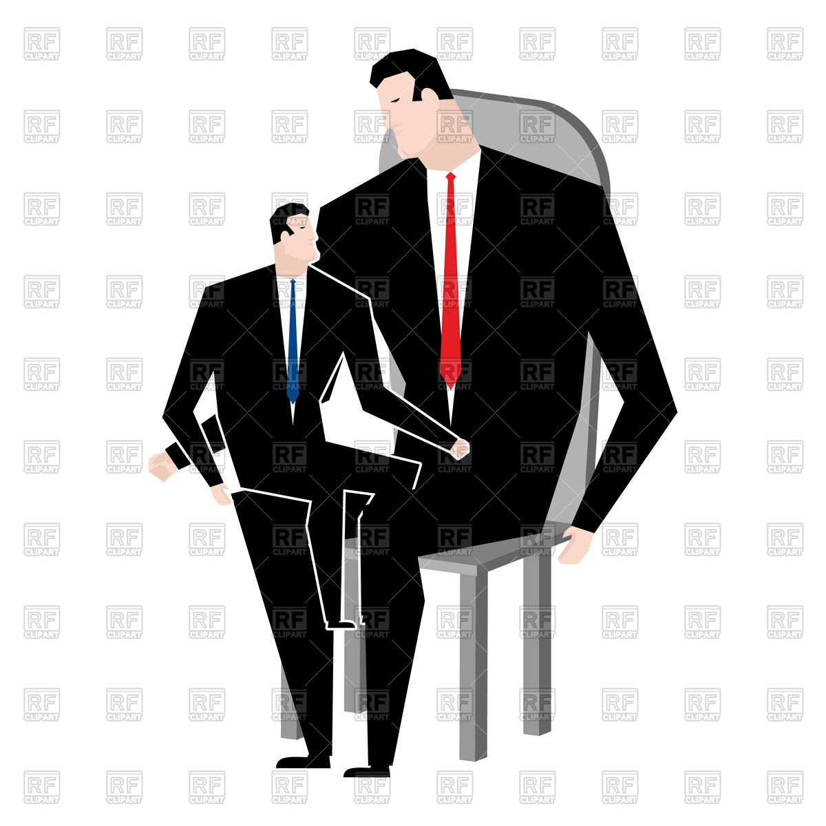 1200x1200 Businessmen And Son. Family Business Relatives. Royalty Free