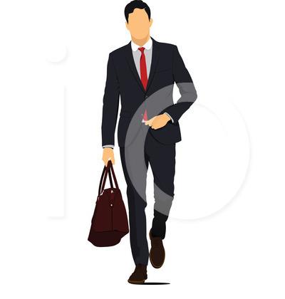 400x420 Business Man Clipart