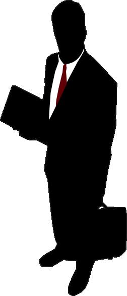252x586 Businessman (Red Tie) Clip Art
