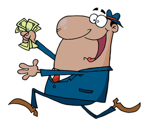 300x255 Businessmen Cartoon Clipart Image