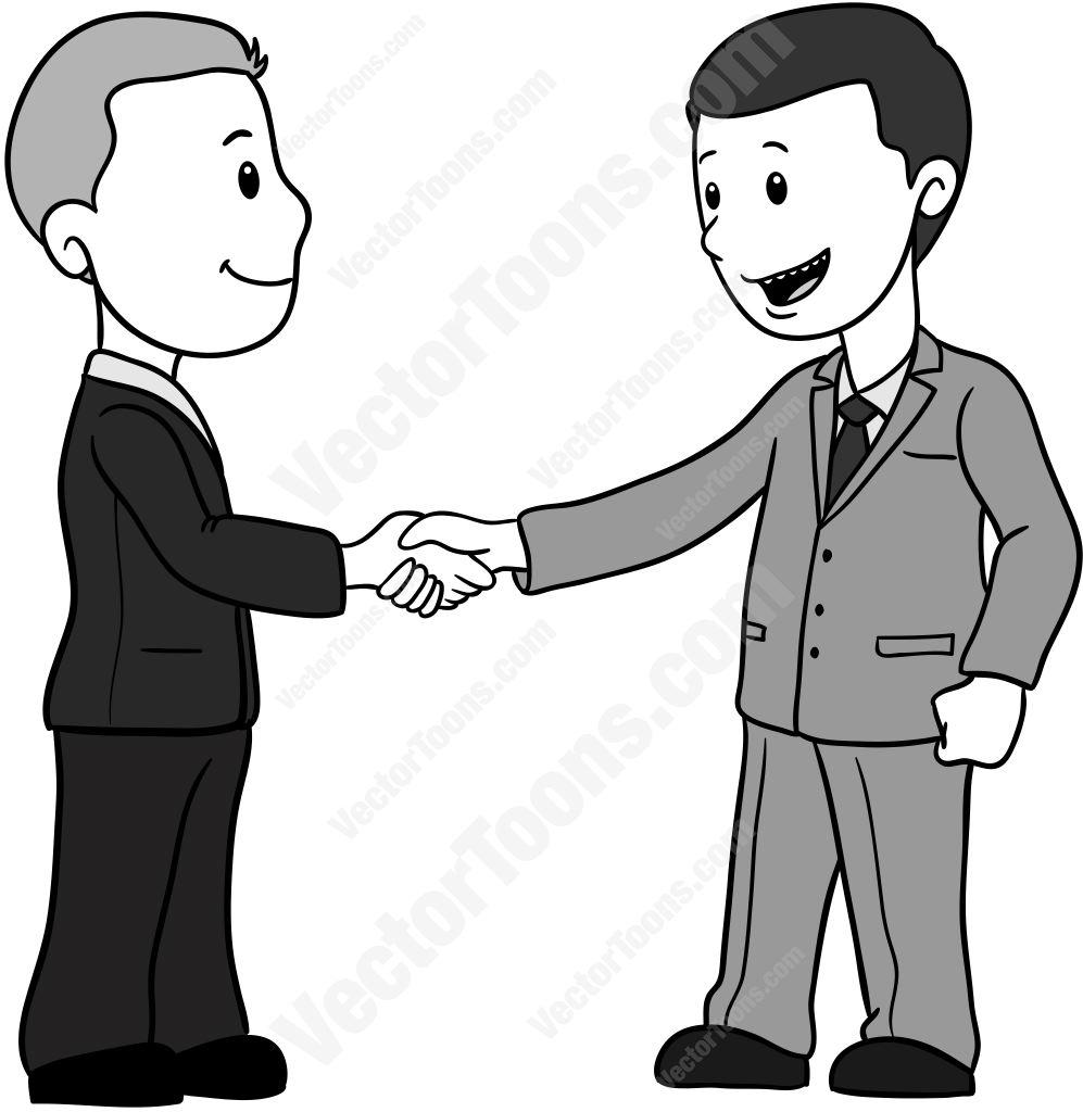 997x1024 Businessmen In Suits Shaking Hands Cartoon Clipart