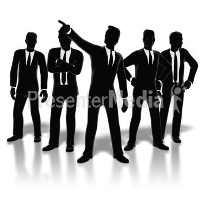 400x400 Businessmen Posed
