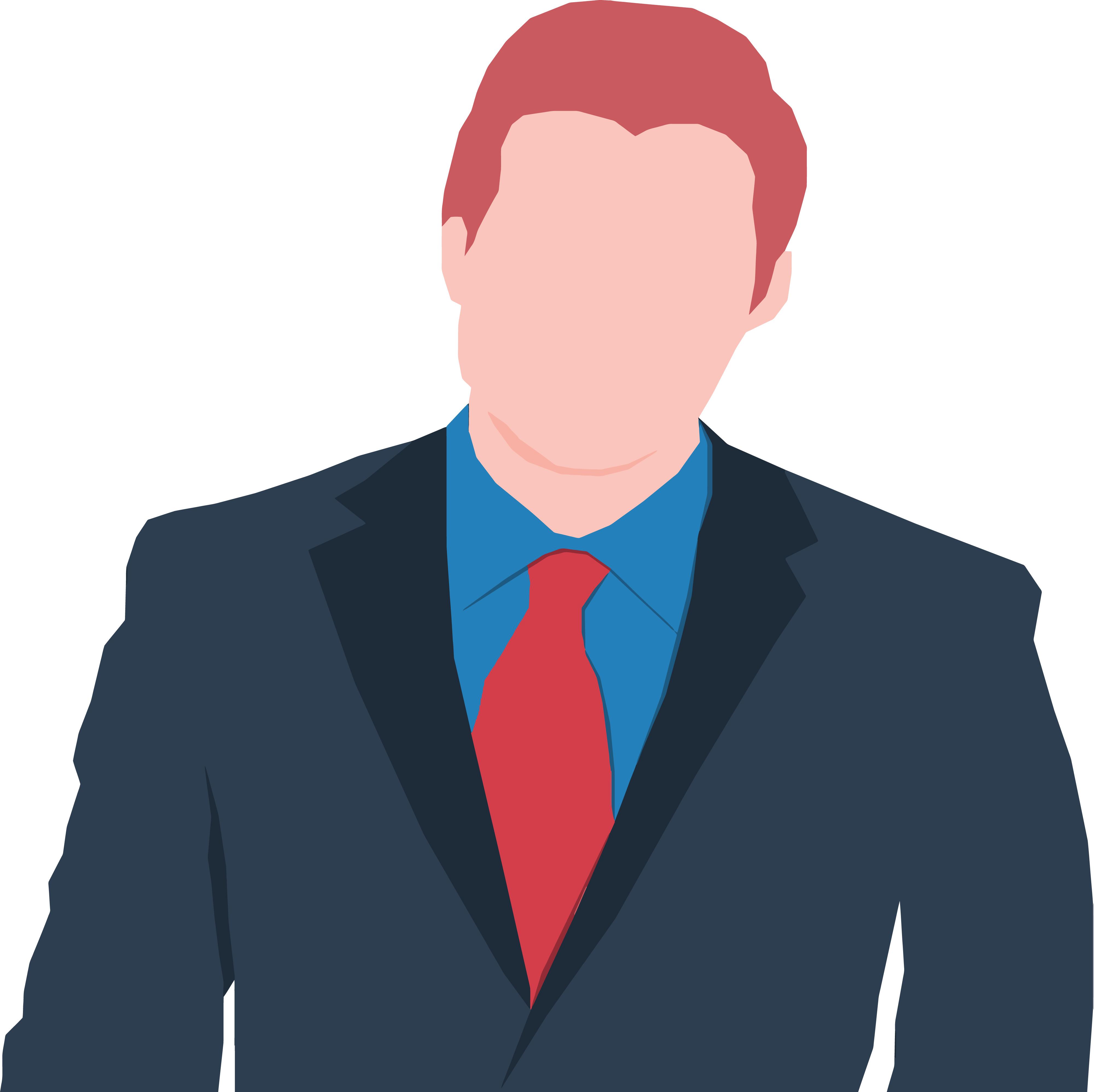 4000x3995 Clipart Of A Faceless Business Man Avatar