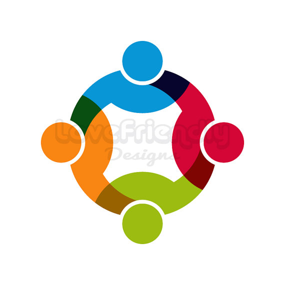 570x570 People Logo Three Persons In Circle Cliprt. Concept