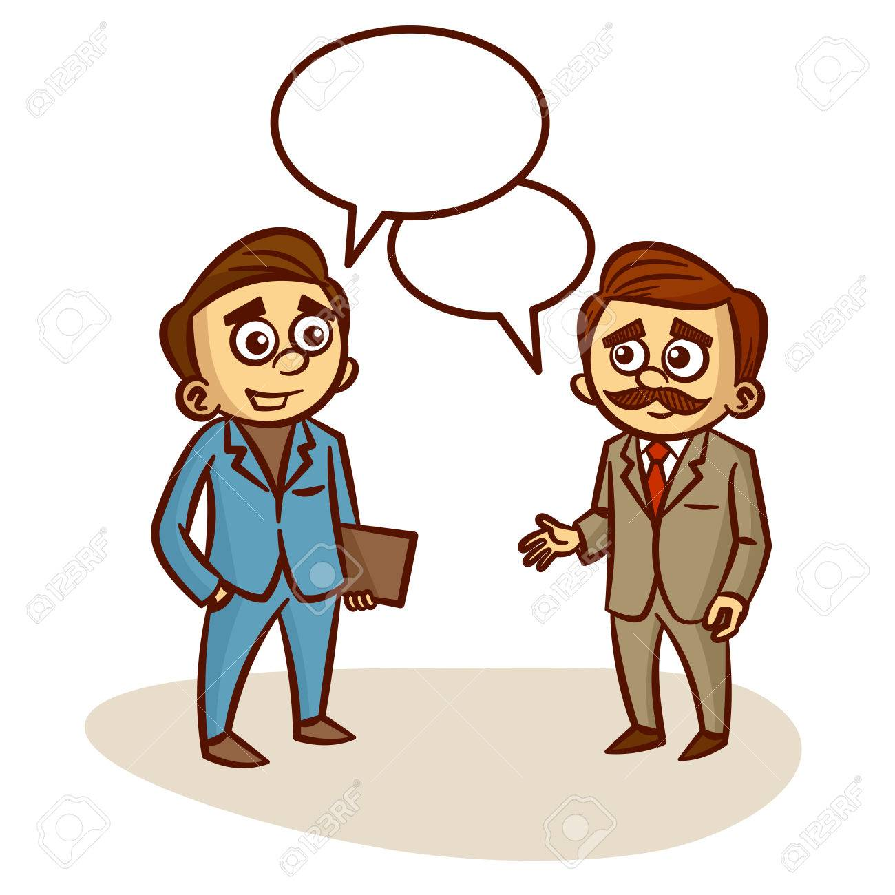1300x1300 Two Businessmen Talking About Business Clipart Royalty Free