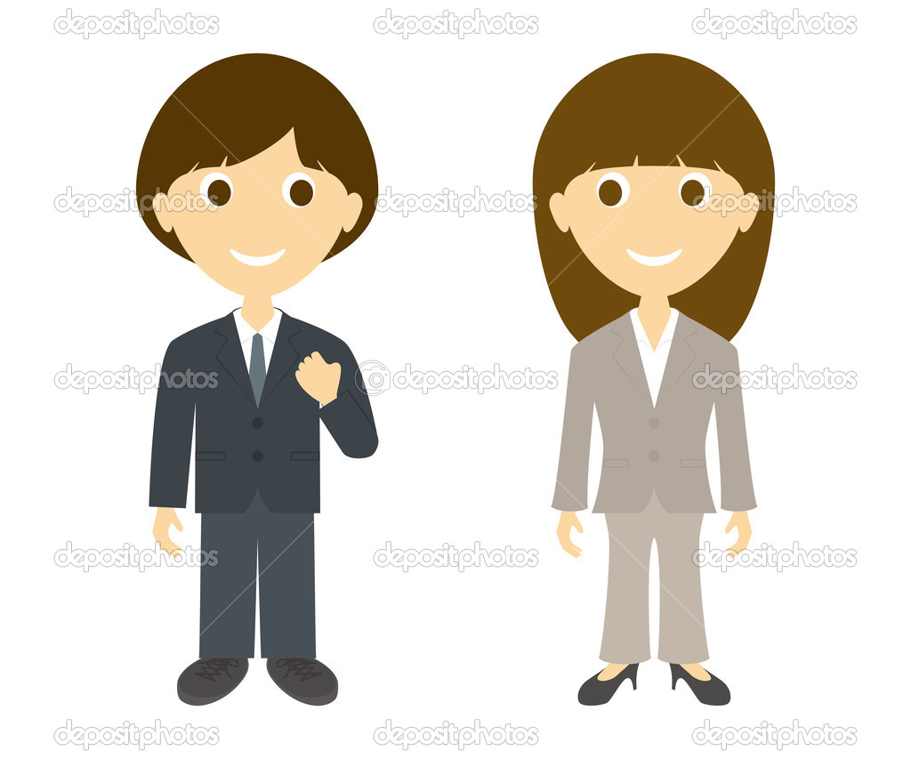1024x853 Business Man And Woman Clipart