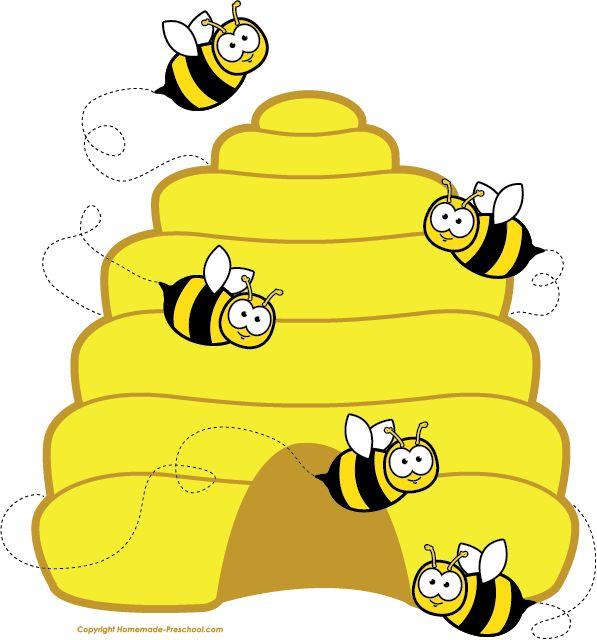 597x640 Honey Bee Clipart Image Cartoon Honey Bee Flying Around Honey 2
