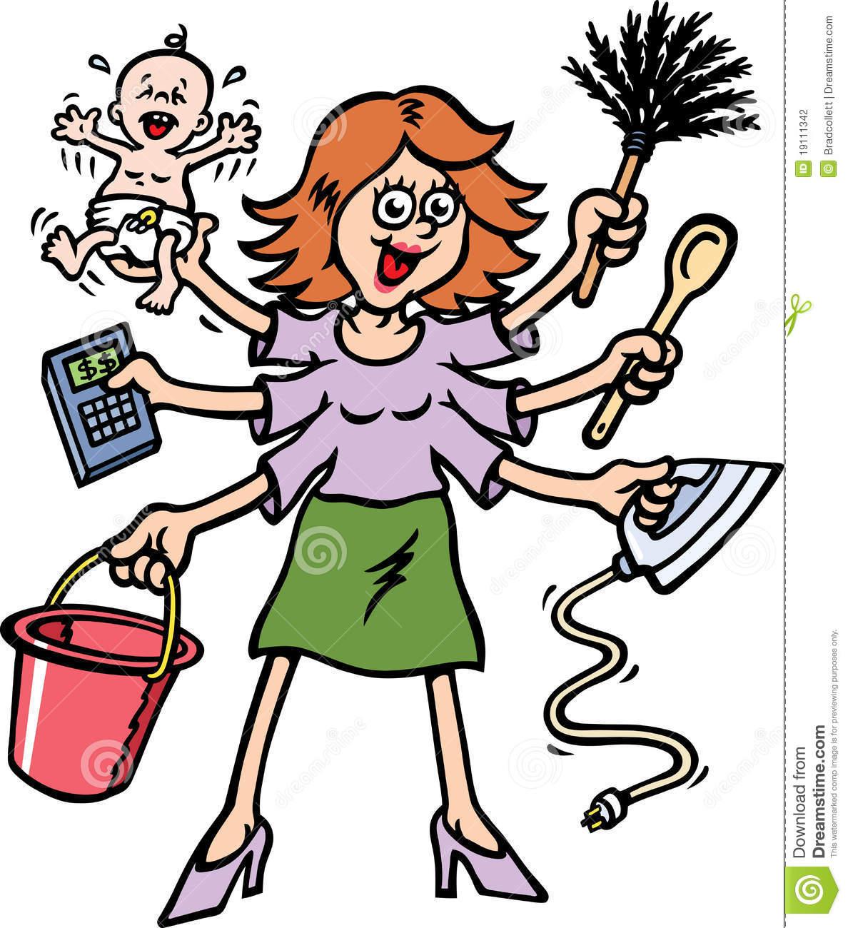 Busy Secretary Cliparts