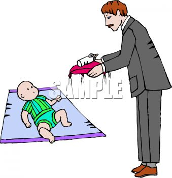 339x350 Butler Bringing A Rich Baby His Bottle