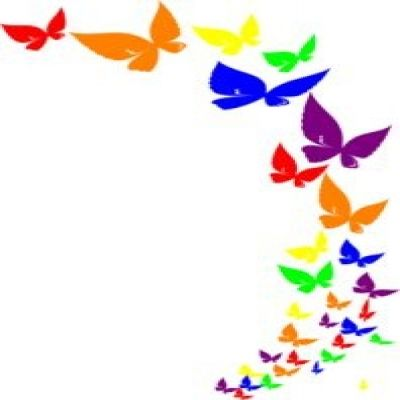 400x400 Butterfly Free Border Clipart