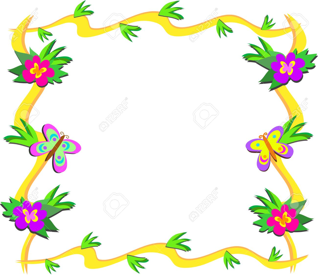 1300x1124 Flowers And Butterflies Clipart Collection