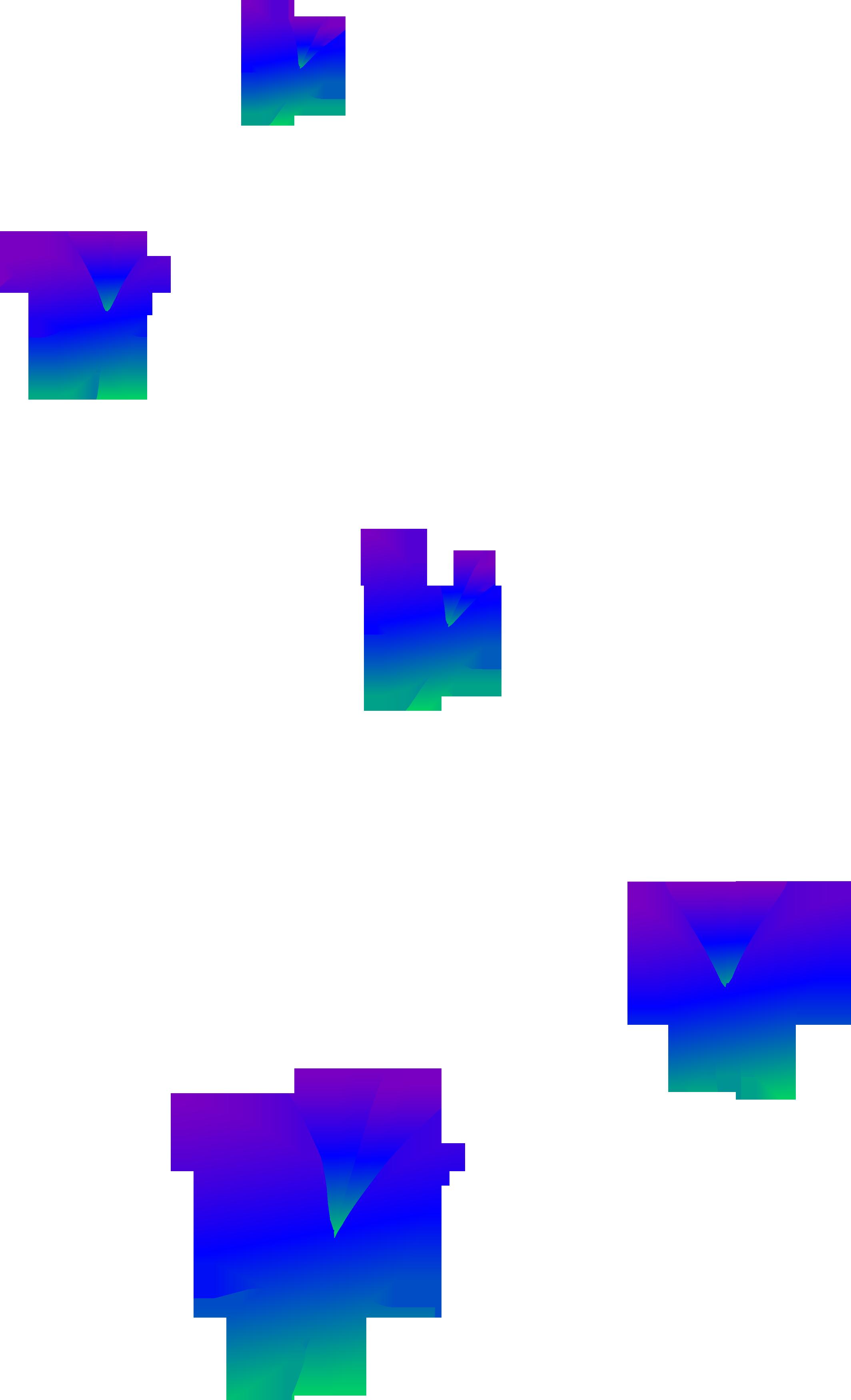 2128x3500 Purple Blue And Green Butterflies