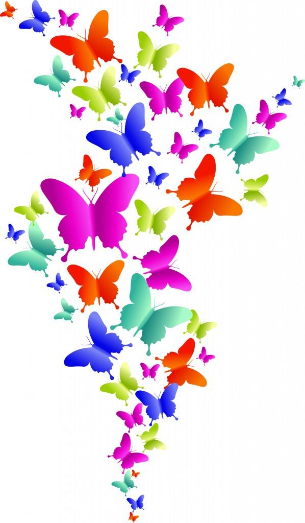 598x1024 Rainbow Butterfly Clipart Flower Butterfly