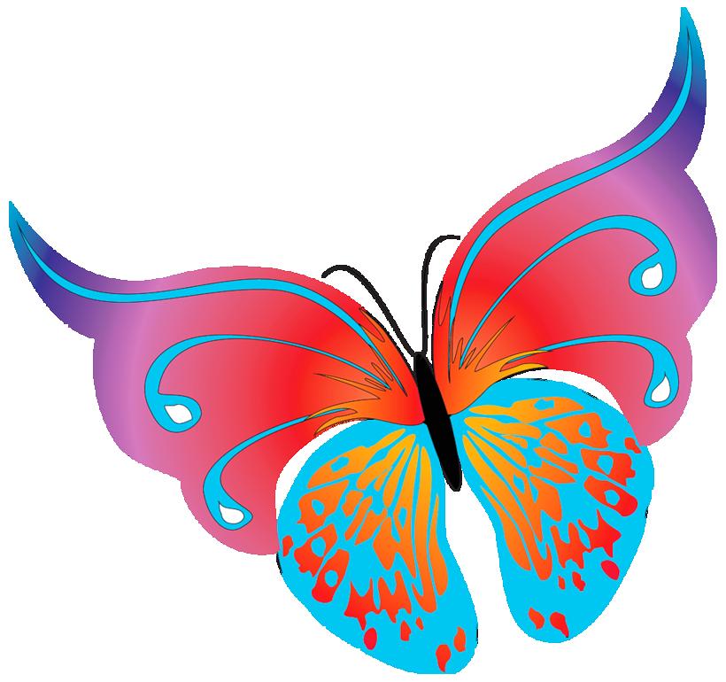 820x770 Painted Butterflies
