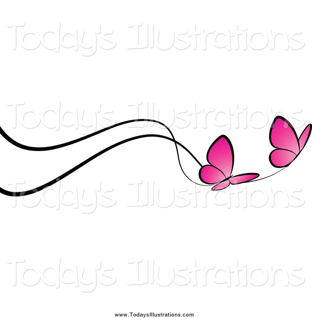 1024x1044 Pink Butterfly Border Clipart