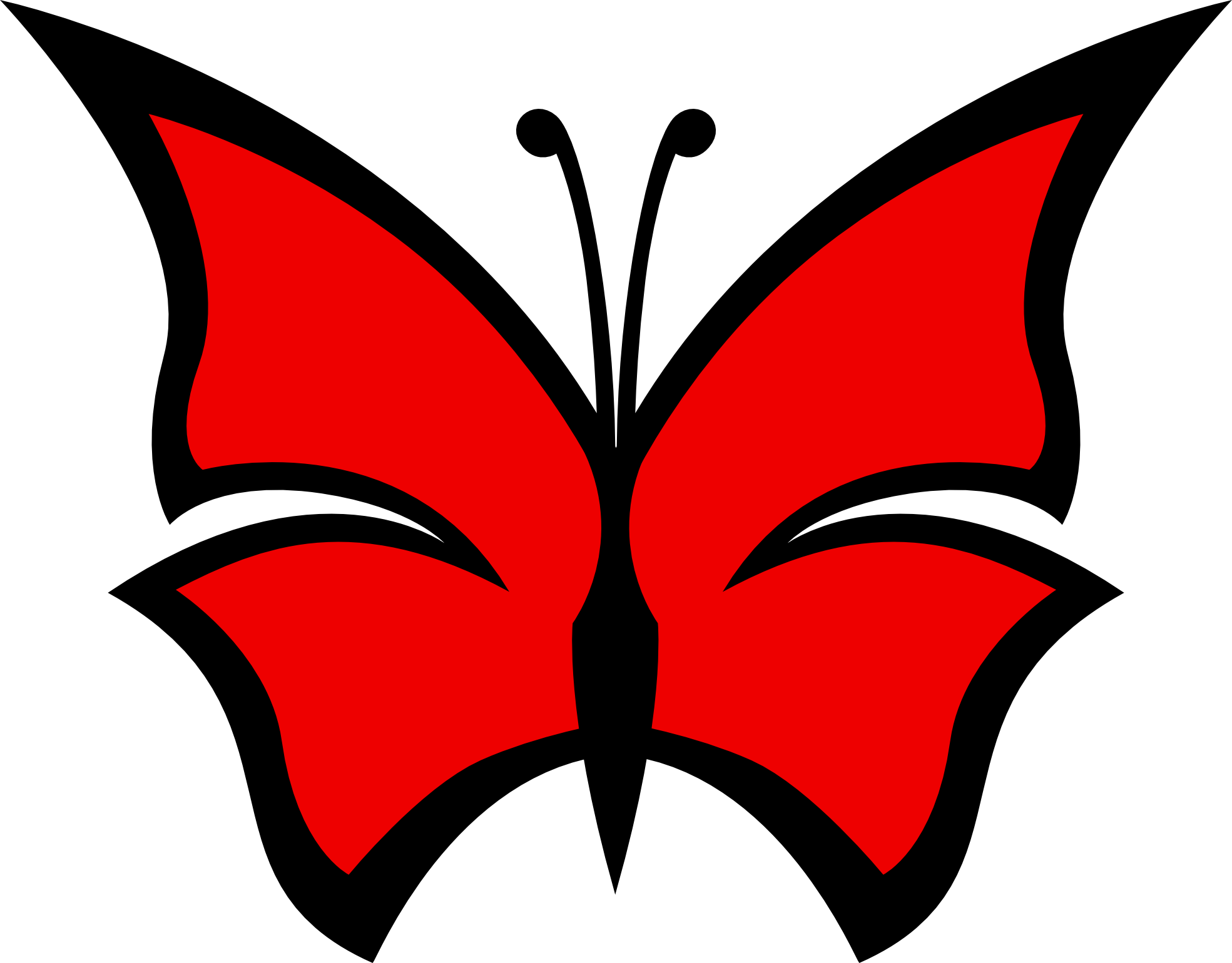 1969x1540 Butterfly Clipart Colored