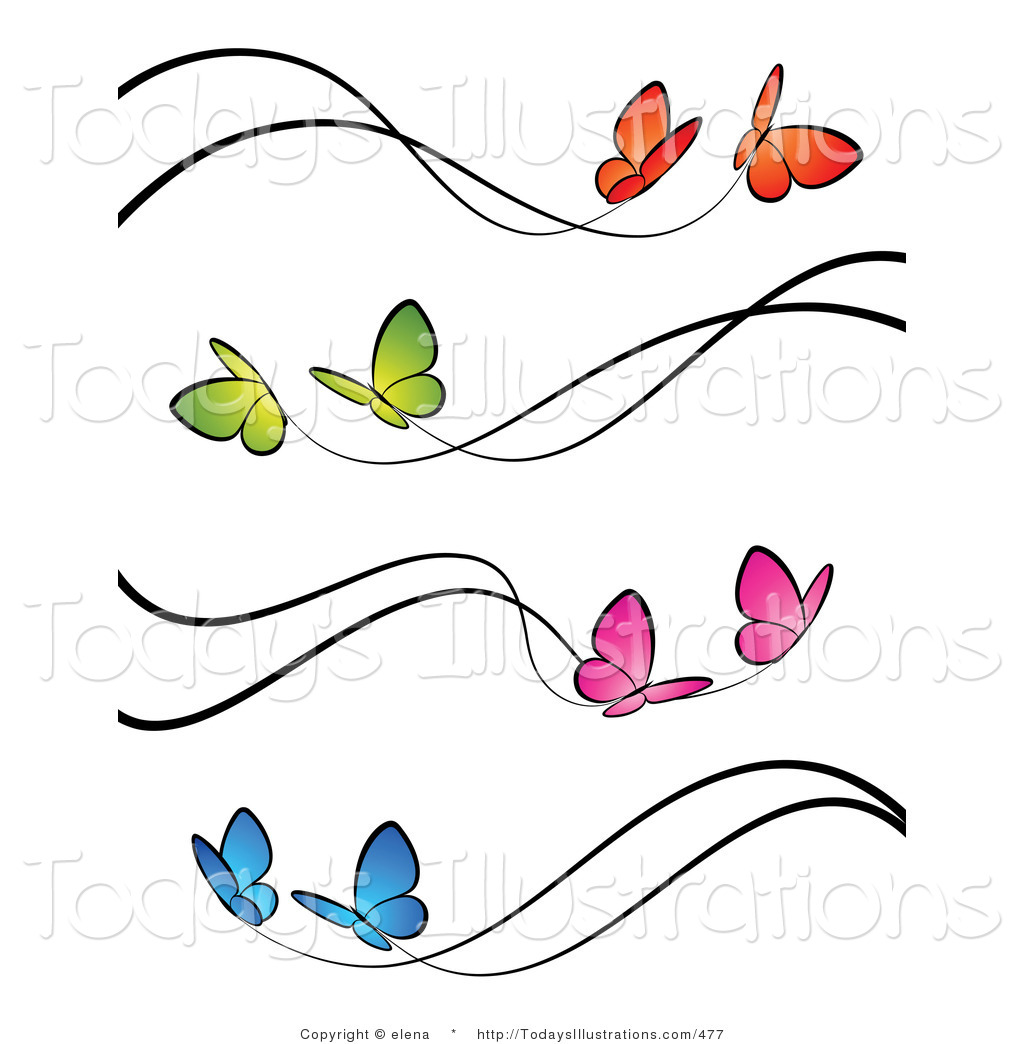 1024x1044 Clipart Flowers And Butterflies Border