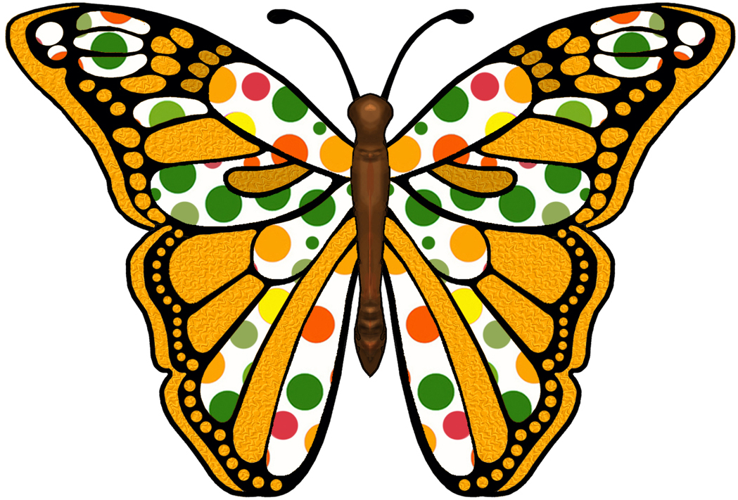 1049x711 Green Butterfly Clipart Free Images