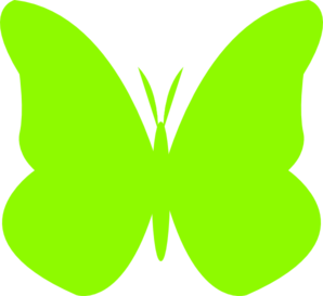 298x273 Lime Green Butterfly Clip Art