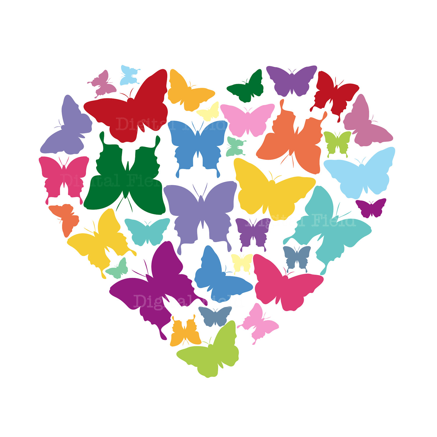 1500x1500 Rainbow Butterfly Clipart Cute Rainbow
