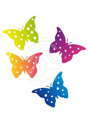 282x400 Clipart Butterflies In Color