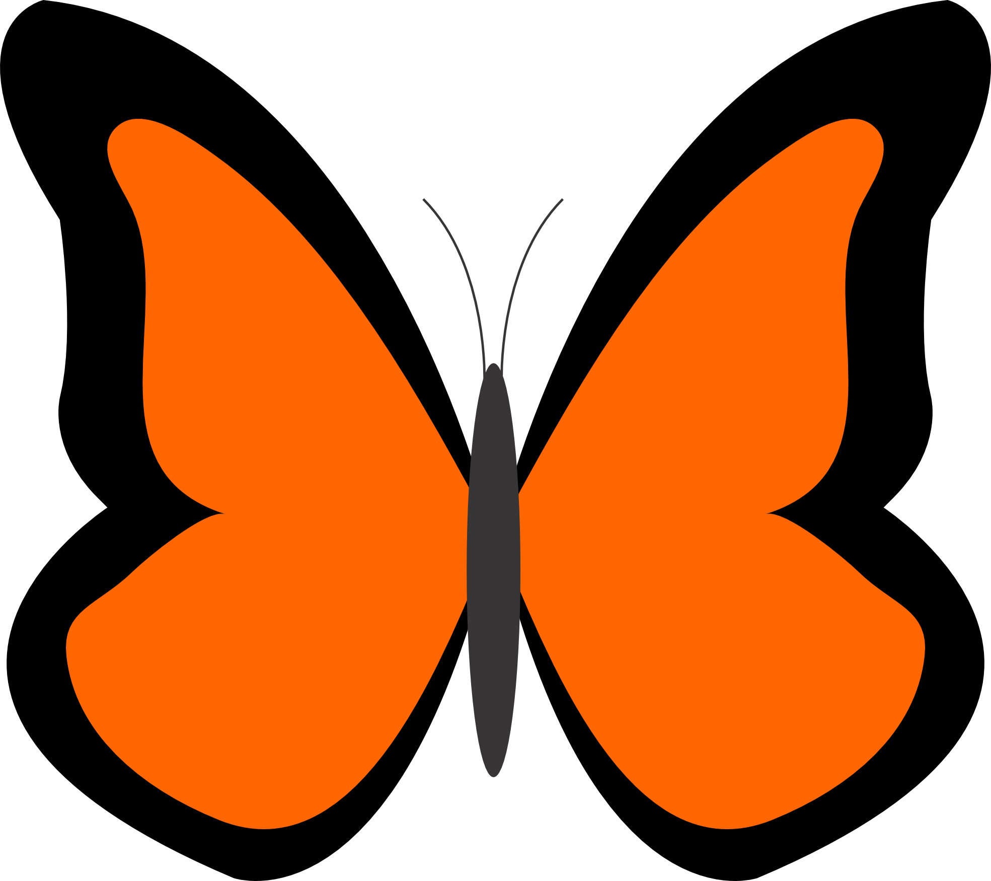 1969x1750 Bugs Clipart Orange Butterfly