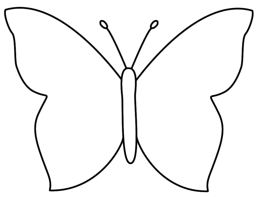 903x683 Butterfly Outline Clipart