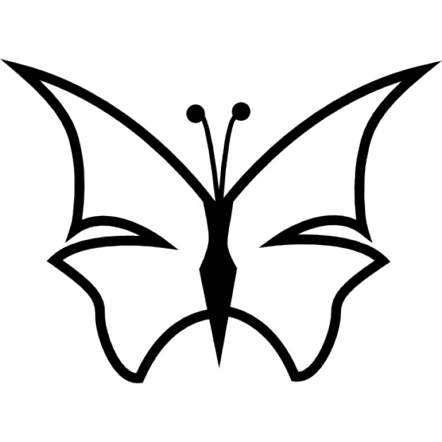 626x626 Butterfly Outline Vectors, Photos And Psd Files Free Download