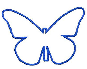 340x270 Butterfly Outline Etsy