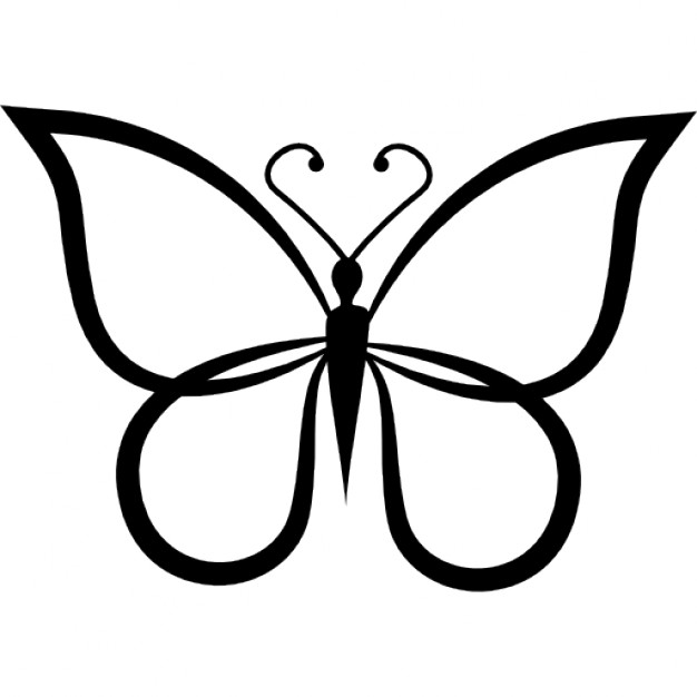 626x626 Butterfly Shape Outline Top View Icons Free Download