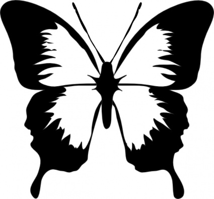 425x395 Clipart Butterfly Outline Clipart Panda