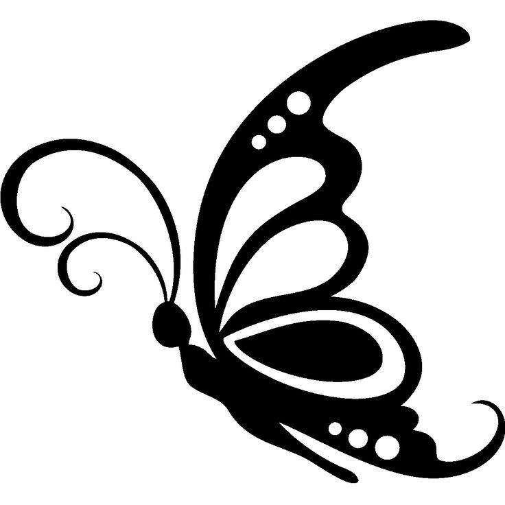 736x736 Papillon Clipart Cute Butterfly Outline