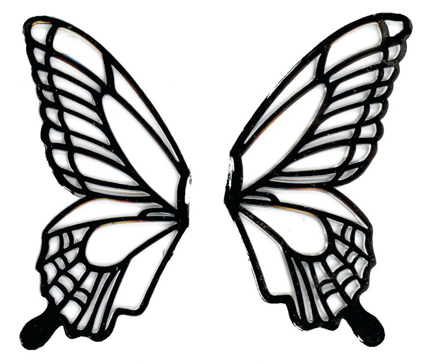 863x741 Pin Drawn Butterfly Wing 5 Clipart Outline Pictures Of Butterflies
