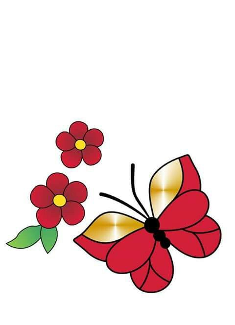 Butterfly And Flower Clipart