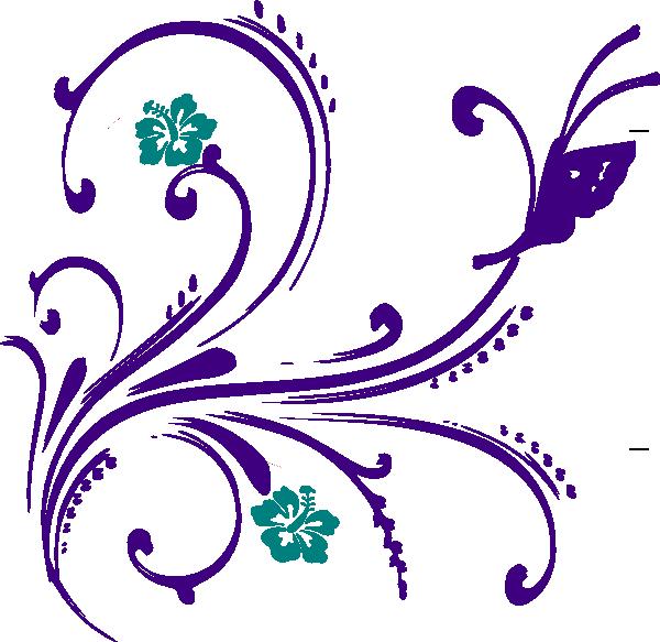 600x583 Flowerutterfly Clip Art