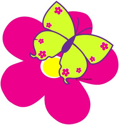 380x400 Spring Clipart Butterfly