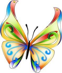 236x276 Butterfly Art Clipart