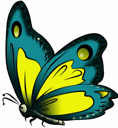 400x434 Free Butterfly Clip Art Drawings And Colorful Images