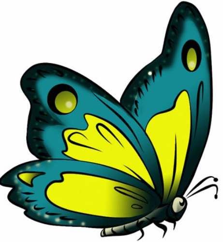 461x500 Free Clipart Images Butterfly
