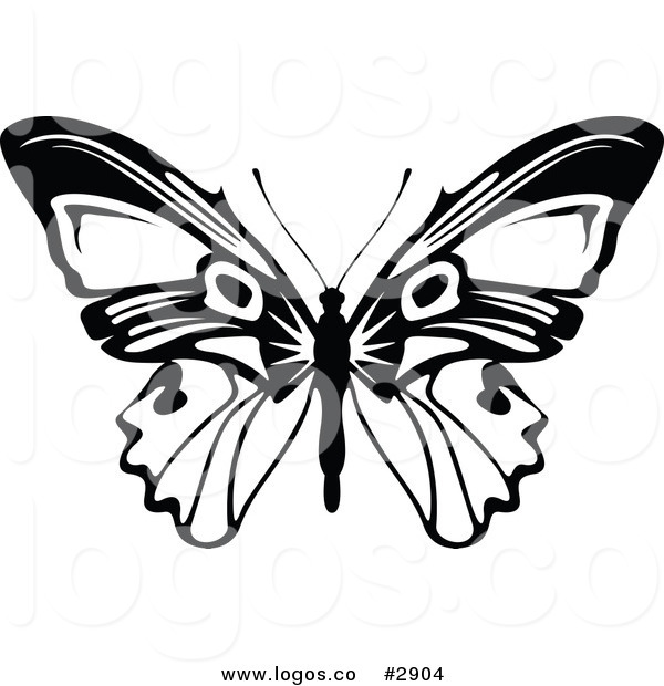 600x620 Butterfly Clip Art Black And White Thewealthbuilding