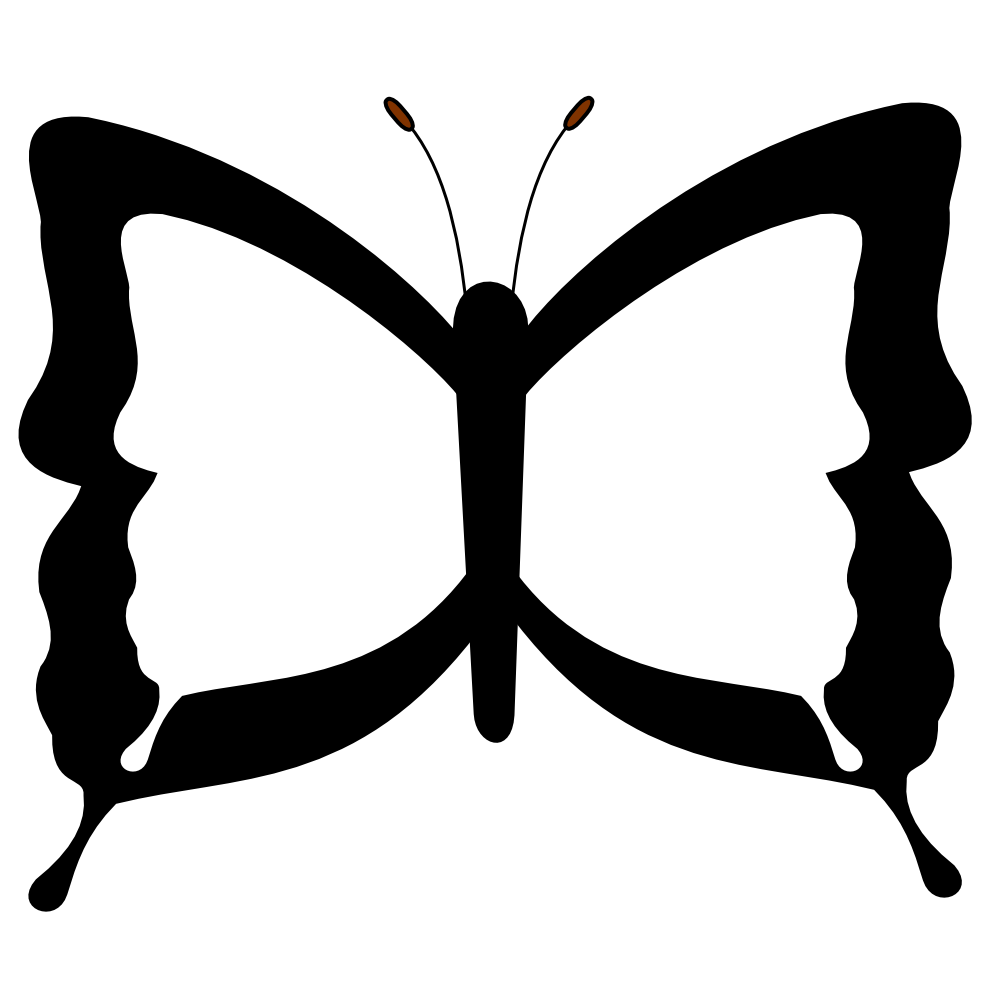 999x990 Butterfly Black And White Black And White Butterfly Images Clipart